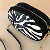 Zebra Print Suede Trim Mini Oval Bag - pr_63585