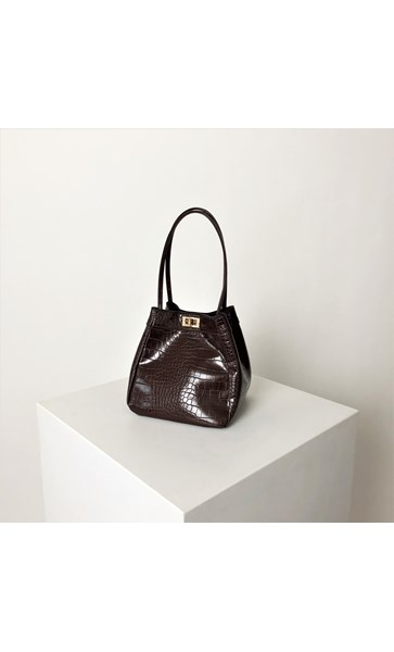 Croc Print Mini Bucket Bag