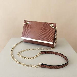 Reptile Metal Bar Fold Over Mini Bag