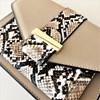 Snake Print Pouch Two Tone Mini Lunch Bag - pr_62134