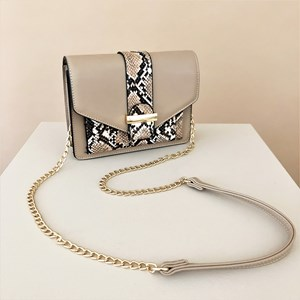 Snake Print Pouch Two Tone Mini Lunch Bag