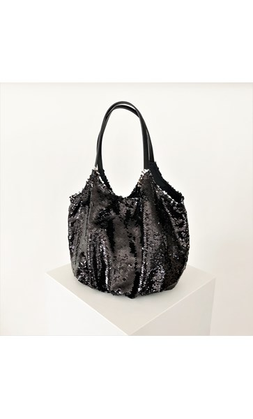 Sequin Slouch Tote Bag