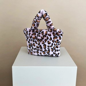 Animal Print Faux Fur Mini Handbag