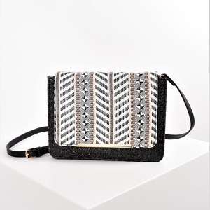 Tribe Mixed Weaves Fold Over Small Bag