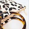 Abstract Leopard Print Resin Handle Tote - pr_65440
