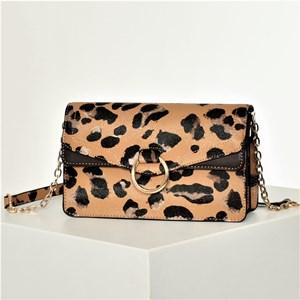 Abstract Leopard Print Ring Fold Over Handbag