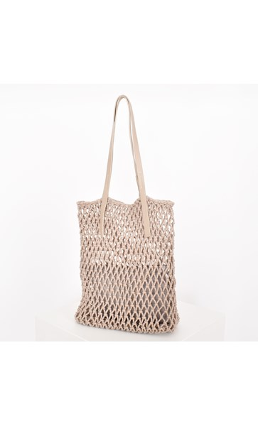 Open Knot Macrame Long Tote Bag