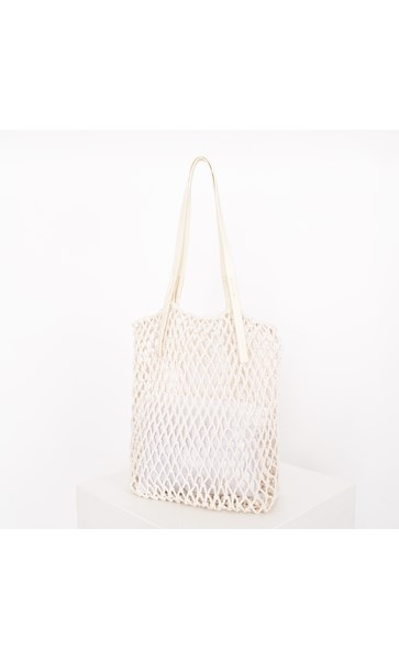 Open Knot Macrame Long Tote Bag