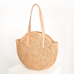 Paper Weave Round Tote Bag