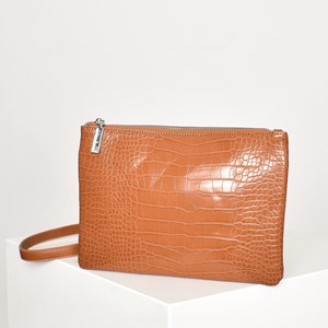 Croc Pocket Front Slim Cross Body Bag