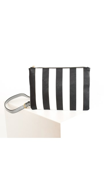 Spots & Stripes Pocket Front Slim Cross Body Bag
