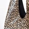 Metallic Leopard Tie Handle Slouch Tote - pr_70924