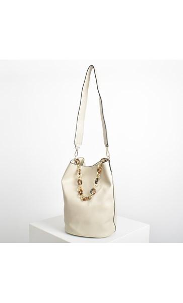 Self Lined Resin Double Handle Bucket Bag