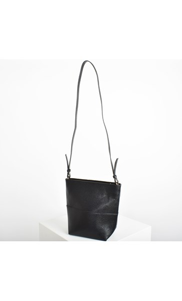 Zip Top Small Bucket Bag