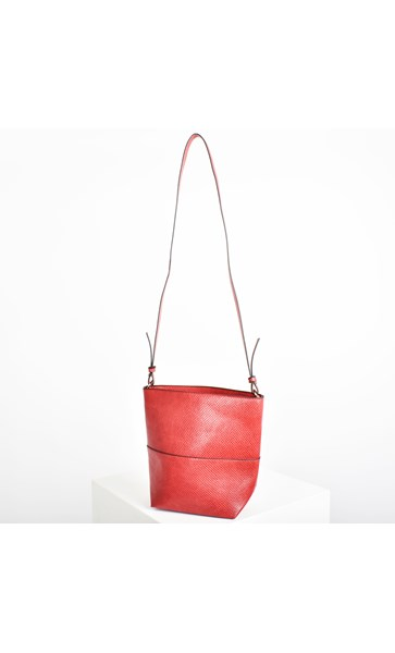 Zip Top Small Bucket Bag