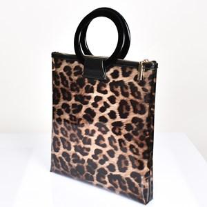 Leopard Print Clear Tote