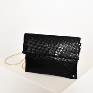 Chain Mesh Fold Over Small Bag