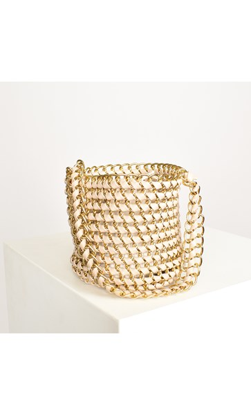 Chain Reaction Small Bucket Bag
