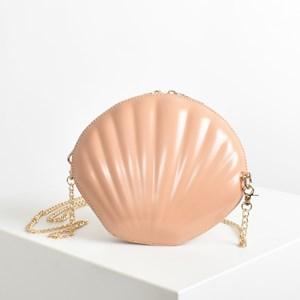 Vegan Leather Moulded Shell Mini Bag