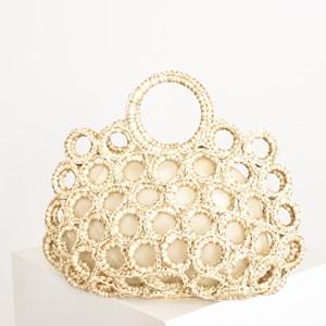 Raffia Open Ring Weave Basket