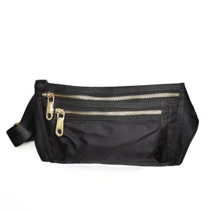Wet Look Webbing Strap Zip Front Belt Bag