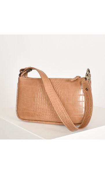 Mini Croc Baguette Bag