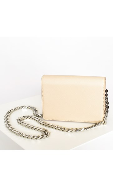 Statement Chain Strap Fold Over Bag