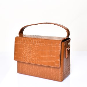 Croc Fold Over Square Lunch Bag