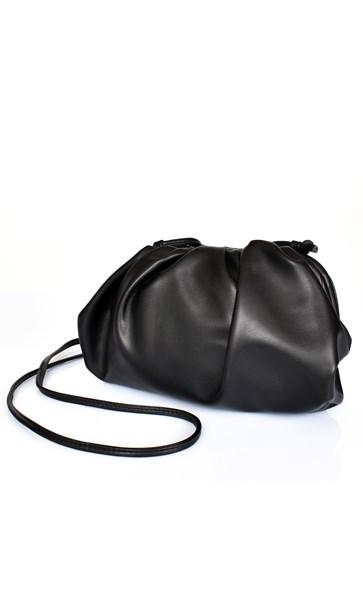 Framed Pleated Cross Body Bag