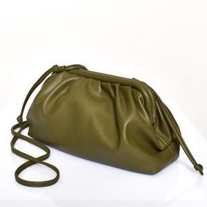 Framed Pleated Shoulder Bag