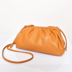 Framed Pleated Shoulder Bag