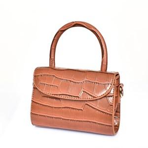 Mini Croc Fold Over Lunch Bag