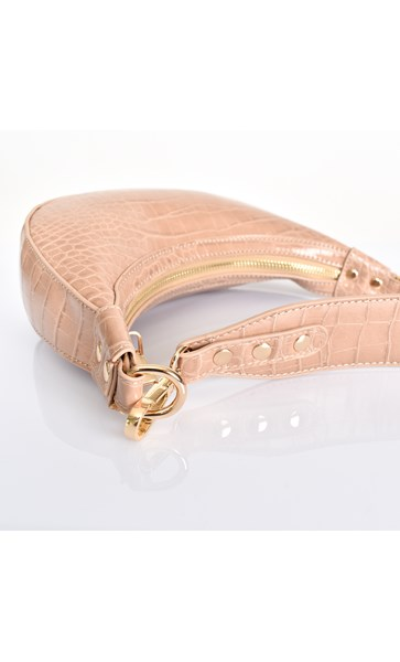 Mini Croc Crescent Bag