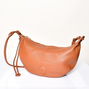 Knotted Strap Crescent Bag
