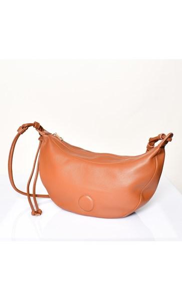 Knotted Strap Crescent Bag