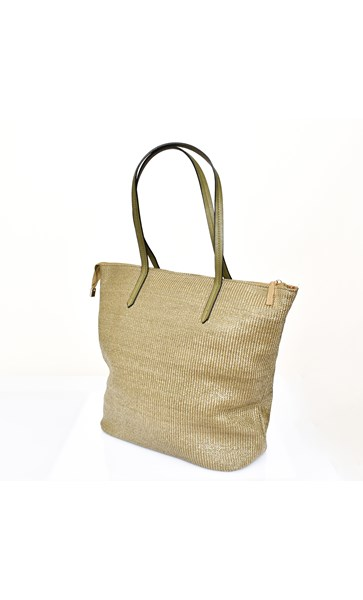 Faux Weave Tall Tote