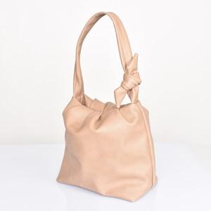 Tie Shoulder Pleat Top Handbag