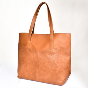 Angled Pocket Front Tote