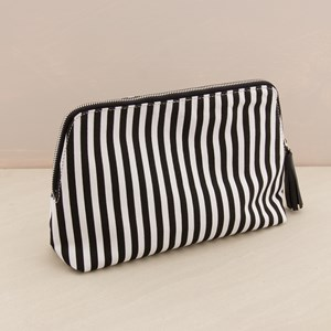 Curved Canvas PU Tassel Travel Case