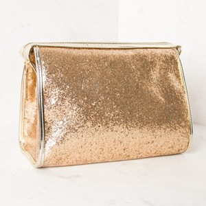 Curved Glitter Toiletries Case