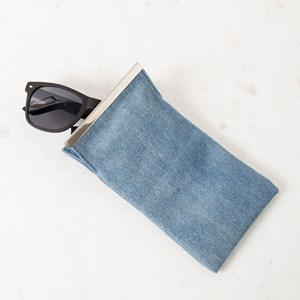 Denim Metal Bar Sunglasses Case