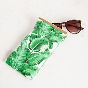 Banana Leaf Metal Bar Sunglasses Case