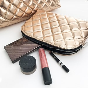 The Moselle Quilted Toitetries & Make Up Set