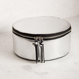 Small Round Structured Travel Case