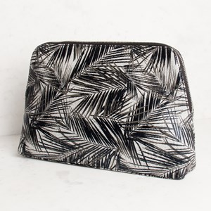 Palm Print Curved Toiletries