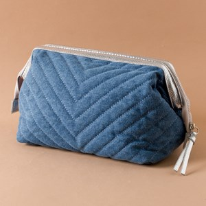 Freya Quilted Framed Toiletries Case