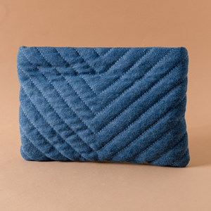 Freya Quilted Recessed Zip Pouch