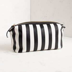 Polly Thick Stripe Make Up Case