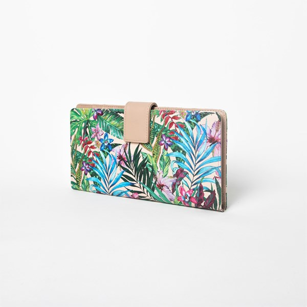 Tropicale Print Travel Wallet