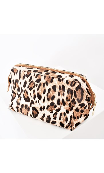 Animal Print Framed Toiletries Case